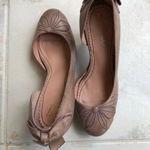 Miss Albright Bow Pumps Mauve Pink Anthropologie